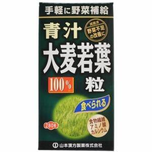 山本漢方製薬 大麦若葉 青汁粒100% (280粒) 【健康補助食品】