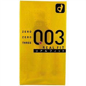 オカモト(okamoto) ゼロゼロスリー 003 リアルフィット (10個入) (コンドーム) 【医療機器】