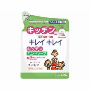 ライオン キレイキレイ 薬用キッチンハンドソープ 詰替用200ml 【医薬部外品】