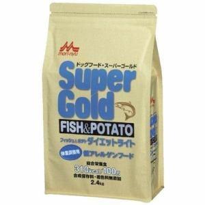 森乳サンワールド スーパーゴールド フィッシュ&ポテト ダイエットライト 体重調整用 低アレルゲンフード 2.4kg
