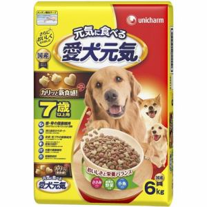 ユニ・チャーム 愛犬元気 7歳以上用 ささみ・緑黄色野菜・小魚入り 6kg