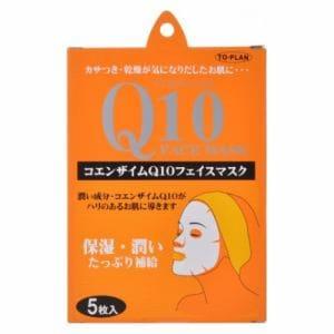 東京企画販売 トプラン コエンザイムQ10フェイスマスク 5枚入り