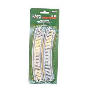 カトー (N) 20-540 ユニトラック 単線高架曲線線路 R381-30゜2本入