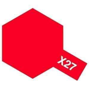 タミヤ タミヤカラー アクリルミニ X-27 クリヤーレッド