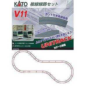 カトー (N) 20-870 ユニトラック V11 複線線路セット(カント付きカーブレール)