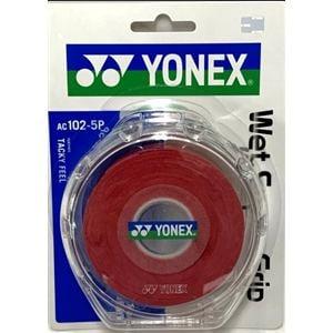 ヨネックス AC102-5P ウェットスーパーグリップ(5本入) ケース付き   ワインレッド