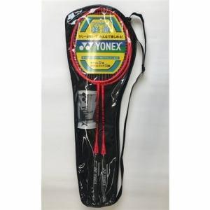 YONEX(ヨネックス) GR417WG-RD バドミントンラケット2本組 シャトル2個付 張り上げ済み レジャーモデル レッド