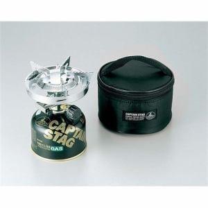 CAPTAIN STAG M-7901 キャプテンスタッグ 小型ガスバーナーコンロ 圧電点火装置付 ケース付