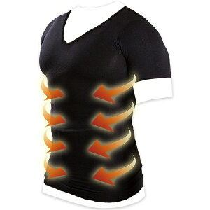 B&Sパートナーズ メンズ 加圧インナーシャツ Vネック マッスルプロジェクト(Mサイズ/ブラック)MPMSWHV