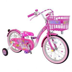 アイデス 子供用自転車 18インチ ミニーマウス Poppin' Ribbon