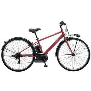 パナソニック 700×38C型 電動アシスト自転車 ベロスター(ワインレッド外装7段変速)BE-ELVS77R