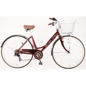 サイモト自転車 27型 自転車 ダカラットクルーズ シティHD-BAA(ルビーレッド/外装7段変速)CV_W277R_HD_BAA_A
