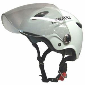 石野商会 RN-666B RENAULTシールド付きハーフヘルメット RENAULTMOTORCYCLE 57cm~60cm未満 ホワイト