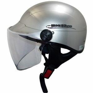 石野商会 MAX-777B シールド付きハーフタイプヘルメット MAXbikers 57cm~60cm未満 シルバー