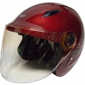 石野商会 MAX-207B セミジェットヘルメット MAXbikers 57cm~60cm未満 キャンディレッド