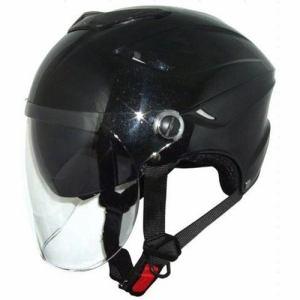 石野商会 MAX-26W ダブルシールドハーフヘルメット MAXbikers 57cm~60cm未満 パールブラック