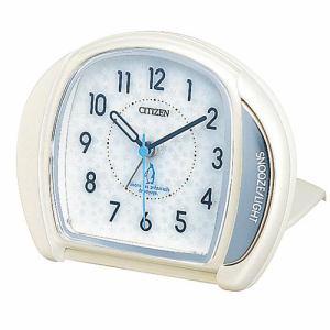 リズム時計 4GE961-003 目覚まし時計 メザマシトケイ 白パール色