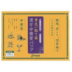 第一三共ヘルスケア 漢方中黄膏パップ 12枚入 【第2類医薬品】