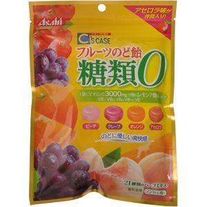 アサヒ シーズケース フルーツのど飴 糖類0 84g 【栄養補助】