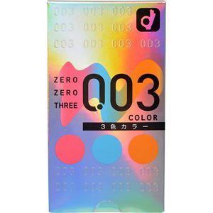 オカモト オカモト ゼロゼロスリー 3色カラー 12個入り(コンドーム)【医療機器】