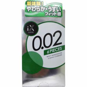 ジェクス(JEX)  iX イクス 0.02 コンドーム (6個入) 【医療機器】