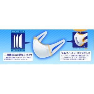 ユニチャーム(unicharm) 超立体マスク ふつうサイズ (7枚入) 【衛生用品】