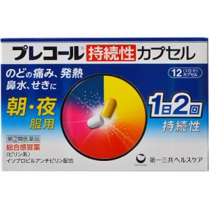 プレコール 持続性カプセル 12カプセル 【指定第2類医薬品】