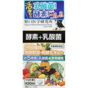 明治薬品 野口医学研究所 酵素+乳酸菌(120粒) 【健康補助】