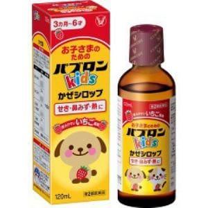 大正製薬 パブロンキッズかぜシロップ いちご風味(120mL) 【第2類医薬品】