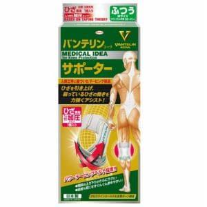 興和(Kowa) バンテリンコーワサポーターひざ専用しっかり加圧タイプ ホワイト ふつう(左右共通・1枚入り) 【衛生用品】