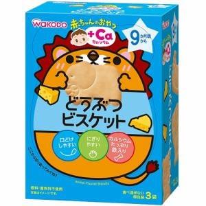 和光堂(WAKODO) 赤ちゃんのおやつ +Caカルシウム どうぶつビスケット 9か月頃から (11.5g×3袋) 【ベビー・おやつ】
