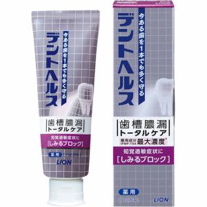 ライオン(LION) デントヘルス 薬用ハミガキしみるブロック (85g) 【医薬部外品】
