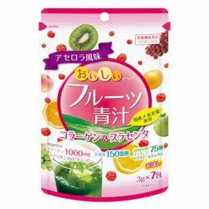 ユーワ(YUWA) おいしいフルーツ青汁コラーゲン&プラセンタ (7包) 【ビューティーサポート】
