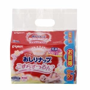 ピジョン (pigeon) おしりナップ 乳液タイプ 詰替用 (66枚入×6コパック) 【ベビー用品】