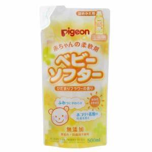 ピジョン (pigeon) ベビーランドリー ベビーソフター ひだまりフラワーの香り 詰替用 (500mL) 【ベビー用品】