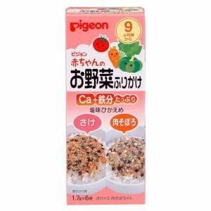 ピジョン (pigeon) 赤ちゃんのお野菜ふりかけ さけ/肉そぼろ (1.7g×6袋入) 【ベビー・キッズフード】