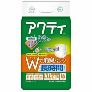 日本製紙クレシア アクティ Wで消臭パンツ 長時間タイプ L-LL 16枚