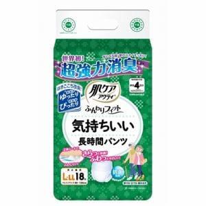 日本製紙クレシア株式会社(Crecia) 肌ケアアクティ ふんわりフィット 気持ちいい長時間パンツ L-LLサイズ (18枚)