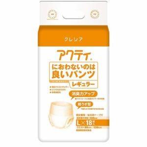 日本製紙クレシア株式会社(Crecia) アクティ におわないのは良いパンツレギュラー Lサイズ (18枚)