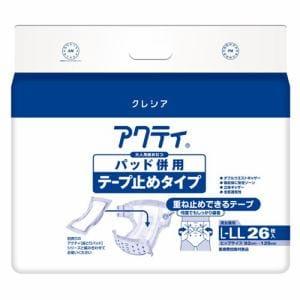 日本製紙クレシア株式会社(Crecia) アクティ パッド併用テープ止め L-LL (26枚)
