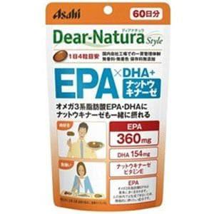 アサヒフードヘルスケア ディアナチュラスタイル EPA×DHA+ナットウキナーゼ 60日分 (240粒)