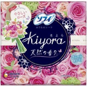 ユニチャーム ソフィ Kiyora(きよら) フレグランス ローズの香り 72枚 【日用消耗品】