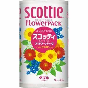 スコッティフラワーパック(ダブル) 12ロール 【日用消耗品】