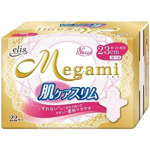 大王製紙 エリス メガミ(Megami) 肌ケアスリム (多い日の昼用) 羽つき 22枚入