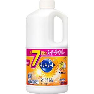花王 キュキュット オレンジの香り つめかえ用 スーパージャンボサイズ 1380ml