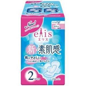 大王製紙 【elis(エリス)】新・素肌感 ふつう-多い日の昼用 羽つき 22枚入×2個パック