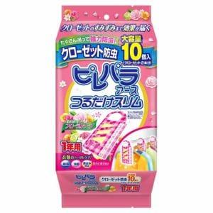 アース製薬 【防虫剤】ピレパラアース つるだけスリム 柔軟剤の香りフローラルソープ 10個入(防虫剤・除湿剤)