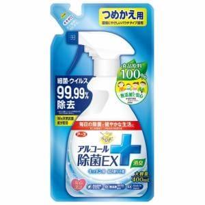アース製薬 らくハピ アルコール除菌EX つめかえ用 400ml【日用消耗品】
