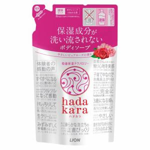 ライオン ハダカラボディソープピュアローズ詰替360ML  hadakara(ハダカラ)