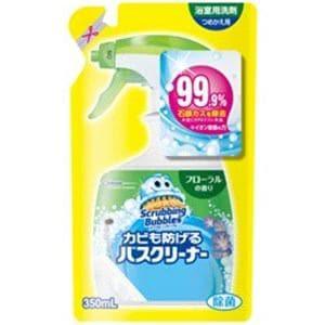 ジョンソン ScrubbingBubbles(スクラビングバブル) カビも防げるバスクリーナー フローラルの香り つめかえ用 (350ml) お風呂用洗剤
